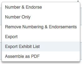 Creating a Trial Exhibit List – Nextpoint Help Center