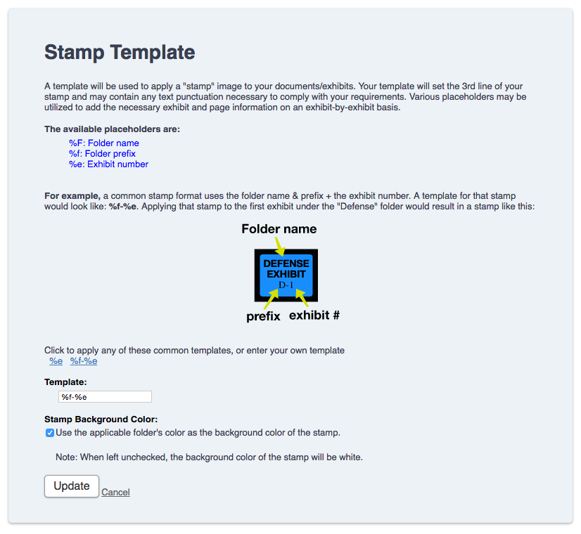 Setting the exhibit stamping template nextpoint help center click here to learn more about stamping your trial exhibits maxwellsz